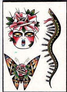 custom tattoo design by efka