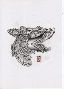 custom design dot style tattoo