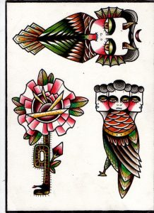 tattoo design traditional and abstract style
